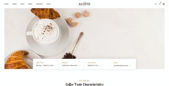 Alacarte - Restaurant & Cafe WordPress Theme