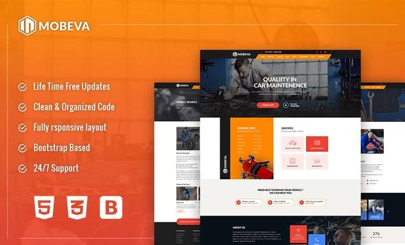 Mobeva - Car Repair HTML Template - Business Corporate