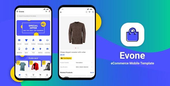 Evone - eCommerce Shop & Store Mobile Template - Mobile Site Templates