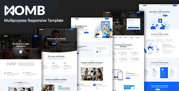 Momb - Multipurpose Responsive Template - Technology Site Templates