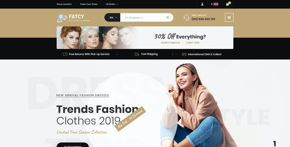 Fatcy - Multipurpose Elementor WooCommerce Theme