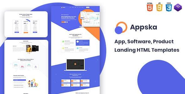Appska - Software & App Landing  HTML5 Template - Business Corporate
