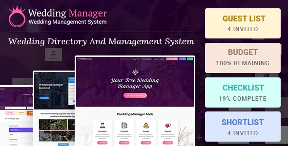 Wedding Manager : Manage Wedding Events and Vendor Listing Event Management WireFrame - Corporate Site Templates