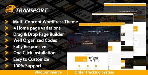 Transport & Logistics WordPress Theme - Business Corporate