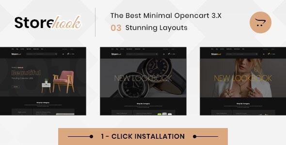 Storehook Minimal - Responsive Opencart 3.0 Theme - Fashion OpenCart