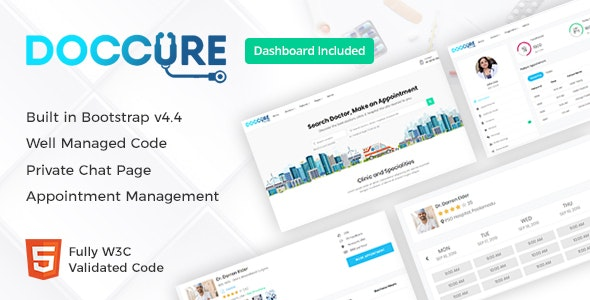 Doccure - Doctor Appointment Booking Bootstrap Template with Admin Dashboard - Health & Beauty Retail