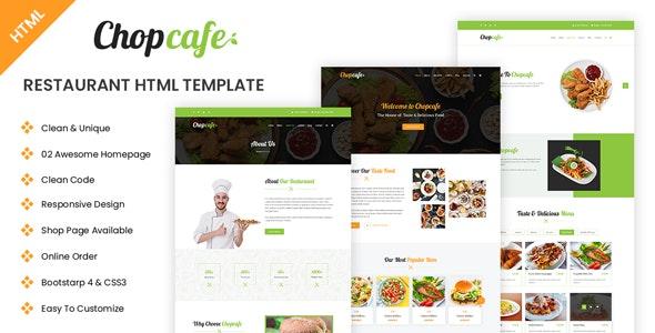Chopcafe - Restaurant HTML Template - Food Retail
