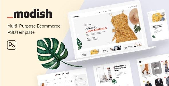 modish - Modern & Multipurpose Fashion Store PSD Template - Fashion Retail