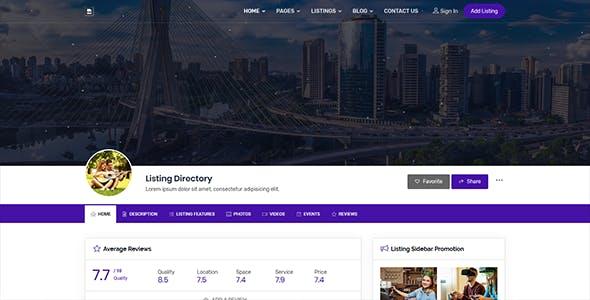 BizMap - Business Directory Listing HTML Template