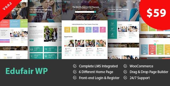 Edufair - Multipurpose WordPress Theme For Education