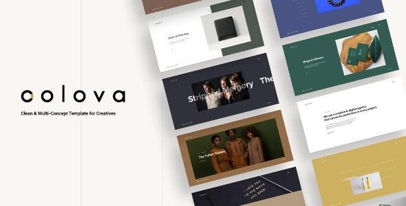 Colova - Clean & Multi-Concept Template for Creatives - Portfolio Creative