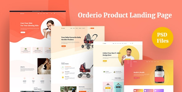 Orderio - Single Product Landing page - Shopping Retail