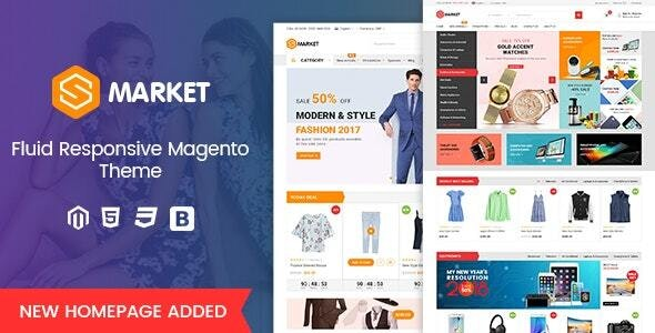 Smarket - Fluid Responsive Magento 2 MultiPurpose Theme - Shopping Magento