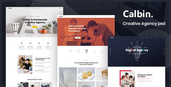 Calbin - Creative Agency PSD Template - Business Corporate