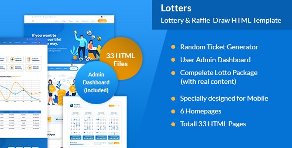 Lotters - Online Lotto & Lottery HTML Template - Miscellaneous Site Templates