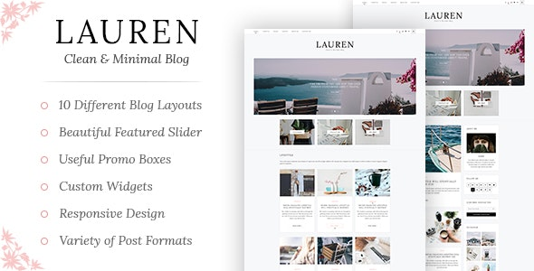 Lauren - Clean & Minimal Blog WordPress Theme - Blog / Magazine WordPress