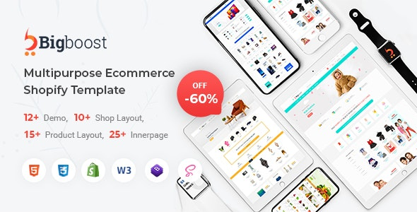 BigBoost - eCommerce HTML Template - Shopping Retail