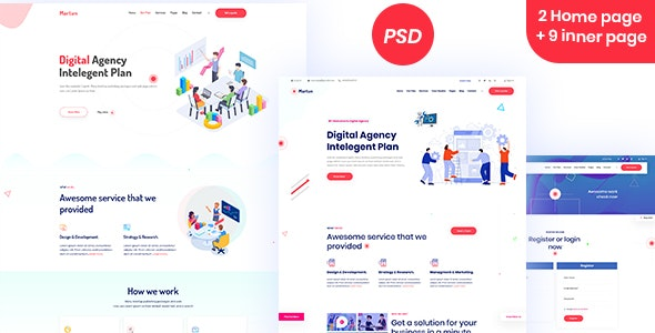 Martun | Business Agency Website PSD Template - Business Corporate