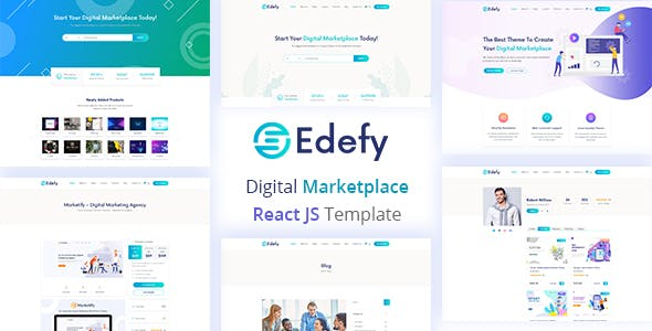 Edefy - React Js Digital Marketplace Template