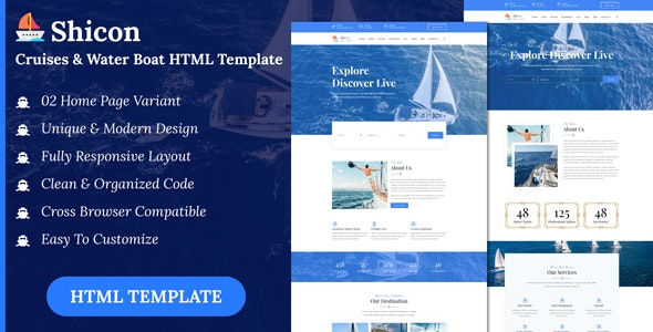 Shicon - Cruises & Water Boat HTML Template - Business Corporate
