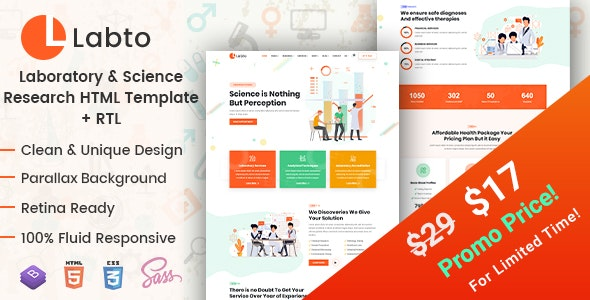 Labto - Laboratory & Science Research HTML Template - Business Corporate