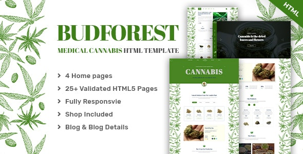 Budforest | Medical Cannabis HTML5 Template - Health & Beauty Retail