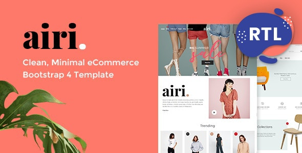 Airi - Minimal eCommerce HTML Template - Shopping Retail
