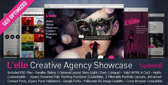 L'elle Creative Agency Showcase - Creative Site Templates