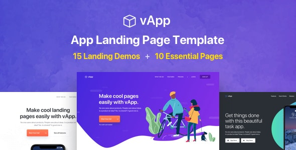 vApp - App Landing Page - Technology Landing Pages