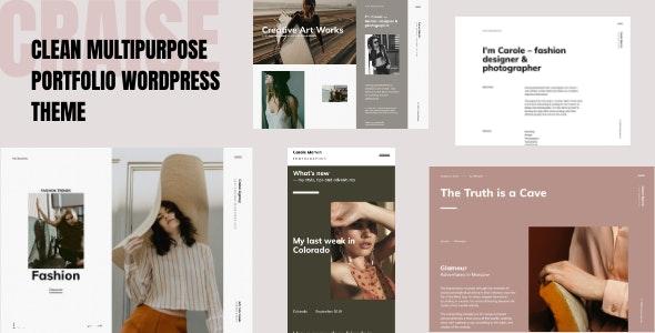 Craise - Multi-Purpose WordPress Portfolio Theme - Creative WordPress