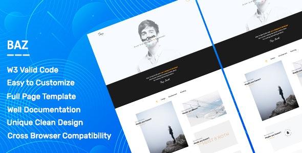 Baz. - Personal Portfolio & Agency Template - Portfolio Creative