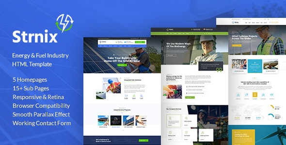 Strnix - Solar and Green Energy HTML Template - Environmental Nonprofit