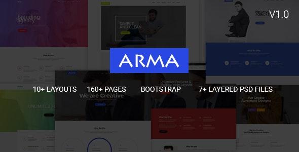 Arma   Multipurpose HTML5 Template - Corporate Site Templates