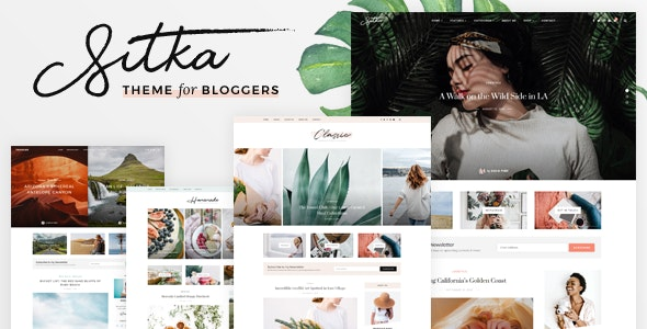Sitka - Modern WordPress Blog Theme - Personal Blog / Magazine