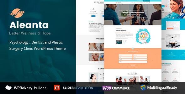 Aleanta - Medical WordPress Theme - Health & Beauty Retail