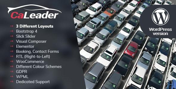 CaLeader - Car Dealer WordPress Theme - Business Corporate