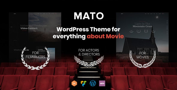 Mato - Movie Studios and Filmmakers WordPress Theme - Portfolio Creative