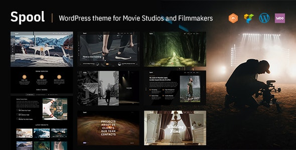 Spool - Movie Studios and Filmmakers WordPress Theme - Portfolio Creative