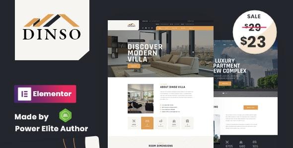 Dinso - Single Property & Apartment WordPress Theme - Real Estate WordPress