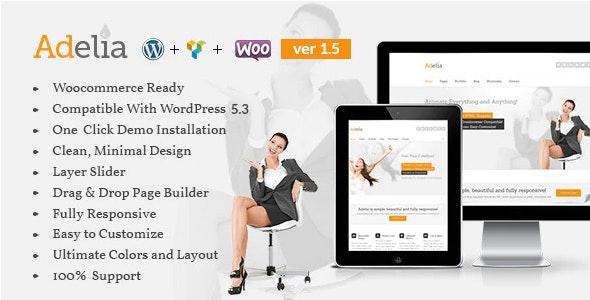 Adelia - Corporate Business WordPress Theme - Portfolio Creative