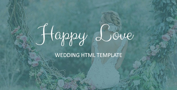 Happy Love - Wedding Responsive HTML5 Template by Unique-Theme