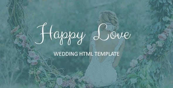 Happy Love - Wedding  Responsive HTML5 Template