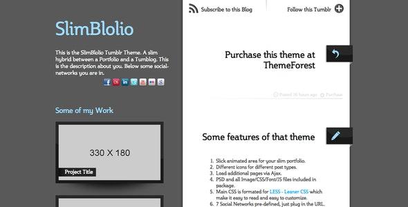 SlimBlolio Tumblr Theme - Blog Tumblr