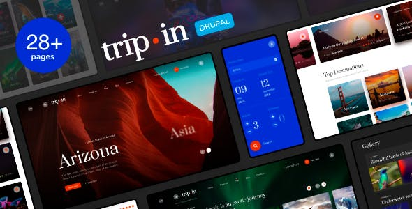 Download Tripin - Travel & Tourism Agency Theme with Booking