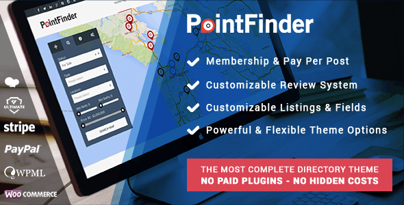 PointFinder | Directory & Listing WordPress Theme - Directory & Listings Corporate