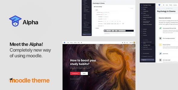Alpha v 1.2.8 - Responsive Premium Theme for Moodle 3.6, 3.7, 3.8 and later - Moodle CMS Themes