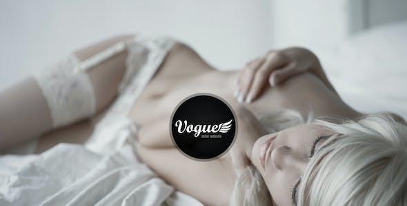 Vogue PSD — Responsive Fullscreen Photo Template
