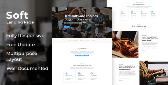 Soft - Responsive HTML Software Development Template - Site Templates