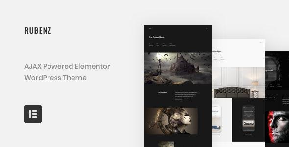 Rubenz – Creative Portfolio AJAX WordPress Theme by