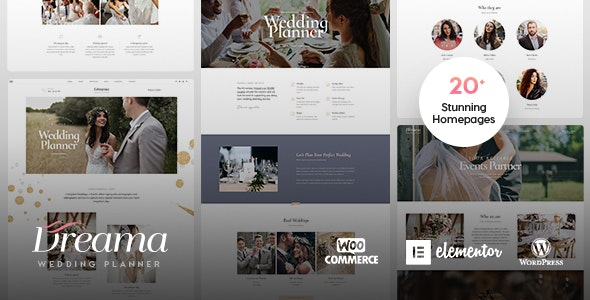Dreama - Engagement & Wedding Planner WordPress Theme - Wedding WordPress